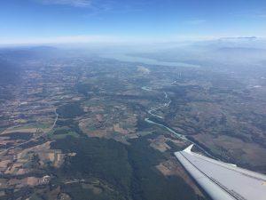 ジュネーブの空から旅立ち